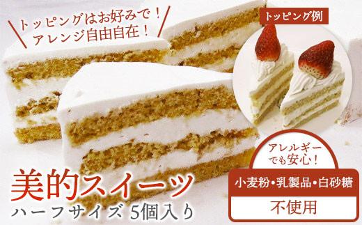 【小麦粉/乳製品/白砂糖不使用】美的スイーツハーフサイズ 5個入り