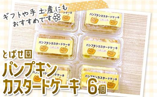 とばせ園 パンプキンカスタードケーキ 6個セット