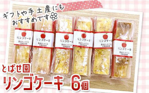 とばせ園 リンゴケーキ 6個セット