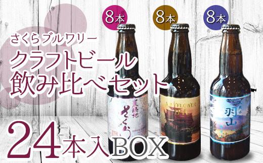 さくらブルワリー ご当地ビール3種 飲み比べセット 24本入BOX