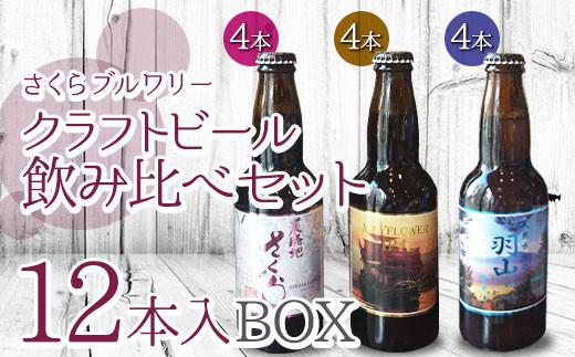 さくらブルワリー ご当地ビール 飲み比べセット12本入BOX