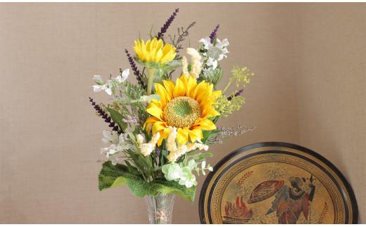 【3ヶ月定期便】アートフラワーなので花粉症知らず!季節の仏花(1本)