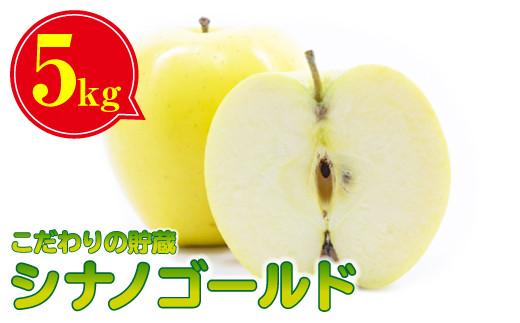【予約受付/2021年3月下旬~発送予定】【平留商店】こだわりの貯蔵シナノゴールドりんご(5キロ)