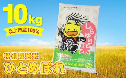 【特別栽培米】北上市産100% しらゆり米  1等米 ( ひとめぼれ 10㎏ )