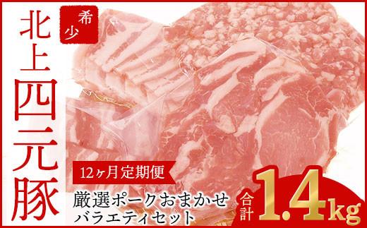【GIFTON】 岩手・北上産四元豚 厳選ポークバラエティセット 【12ヶ月定期便】