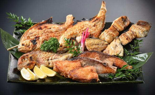 1月 たけ庄おすすめ焼魚盛合せ おまかせ4種