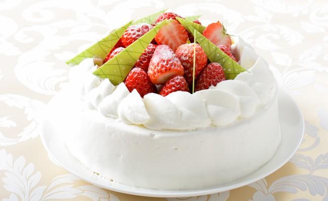 12月 冬のデコレーションケーキ