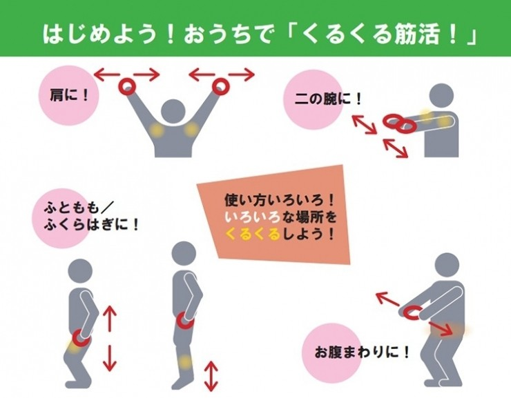 持ち方や動かし方を変えれば、体のいろいろな場所に効果が期待されます!