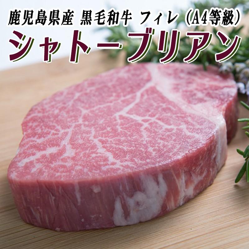 E5-0803/鹿児島県産黒毛和牛フィレ(A4等級)シャトーブリアン