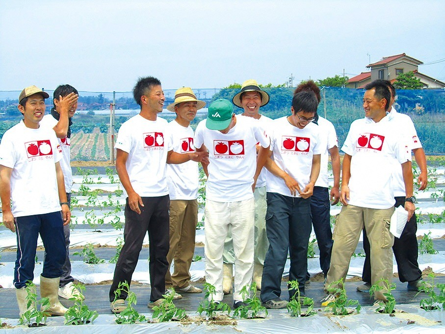 若手を中心に、切磋琢磨してブランド化に取り組んでいるトマト農家