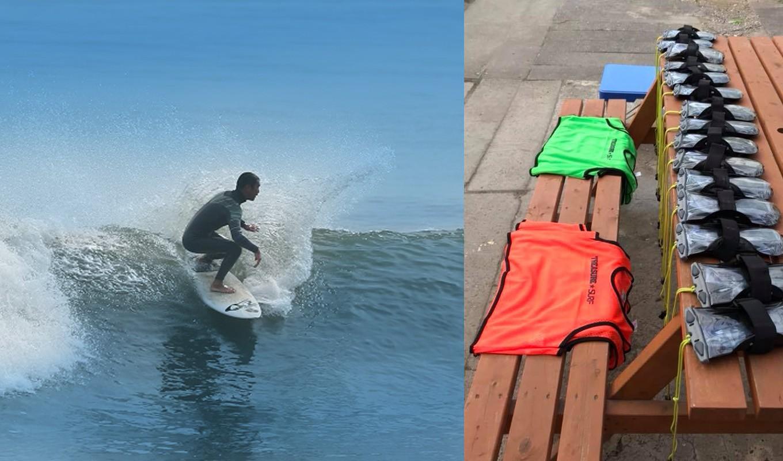 長いスープ(白波)と柔らかい波質。サーフィン向けの人気のビーチです。