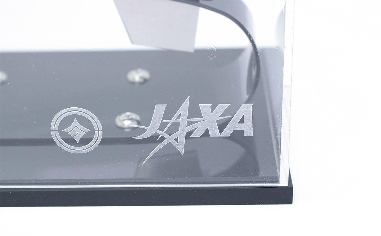 JAXAロゴ入り。JAXA公認のレプリカである証