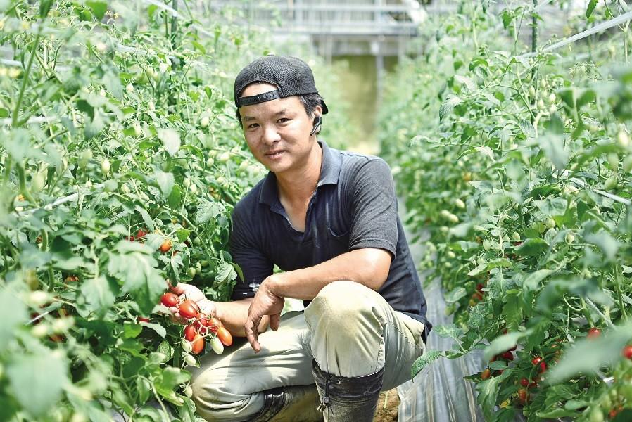 トマトを愛してやまない!生産者の松尾さん。
