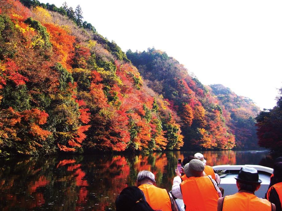 亀山湖紅葉狩りクルーズが人気です
