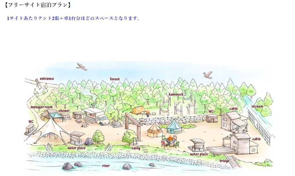 ミロクキャンプ場全体図
