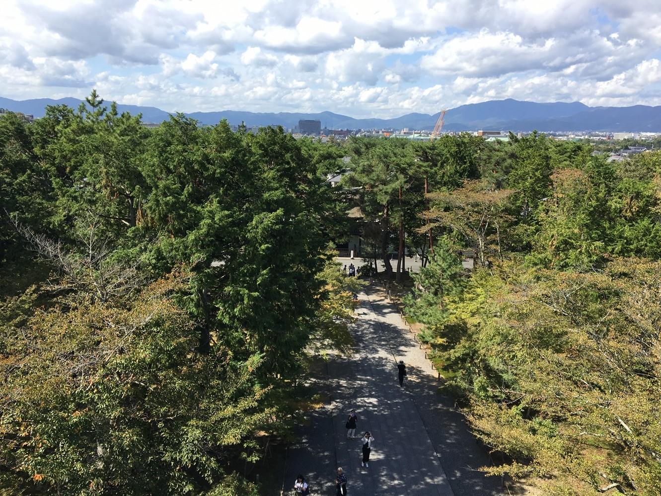 三門楼上からの眺め。石川五右衛門の名セリフ「絶景かな」も納得です。