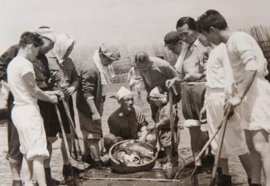 昔ながらの漁法「簀立て遊び」