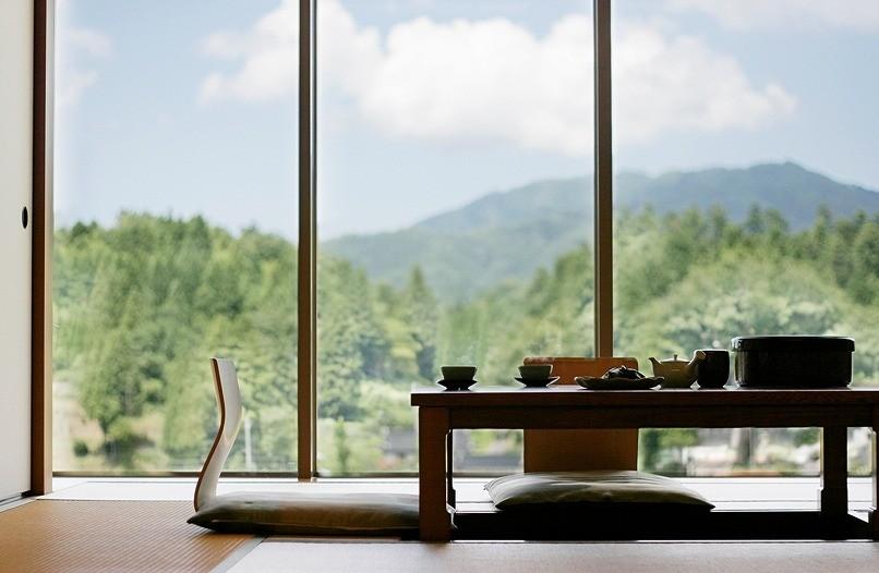 お部屋からは亀嵩の田園風景が一望できます