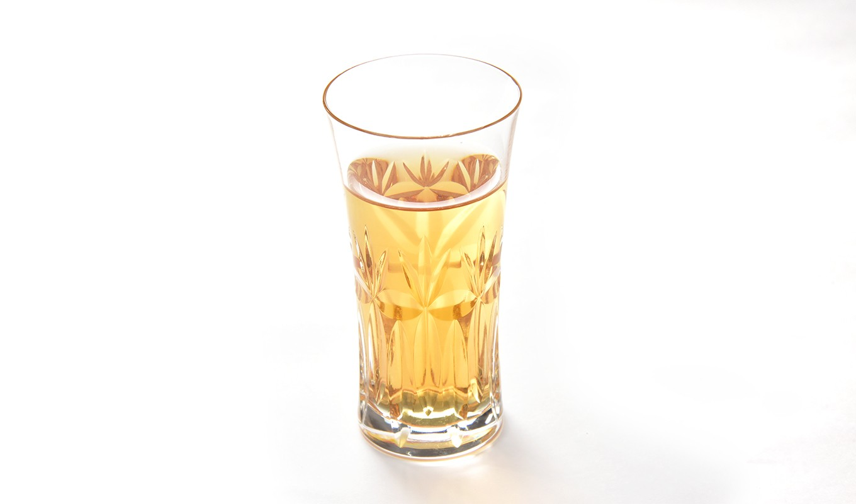 さらりとした飲み口。梅干をつまみに、お楽しみください。