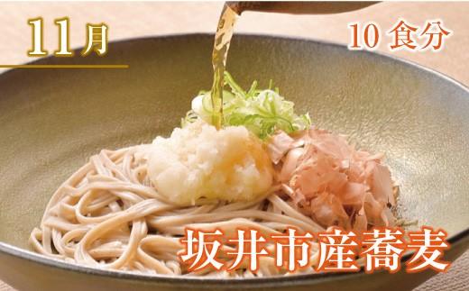 2019年11月 坂井市産蕎麦 10食