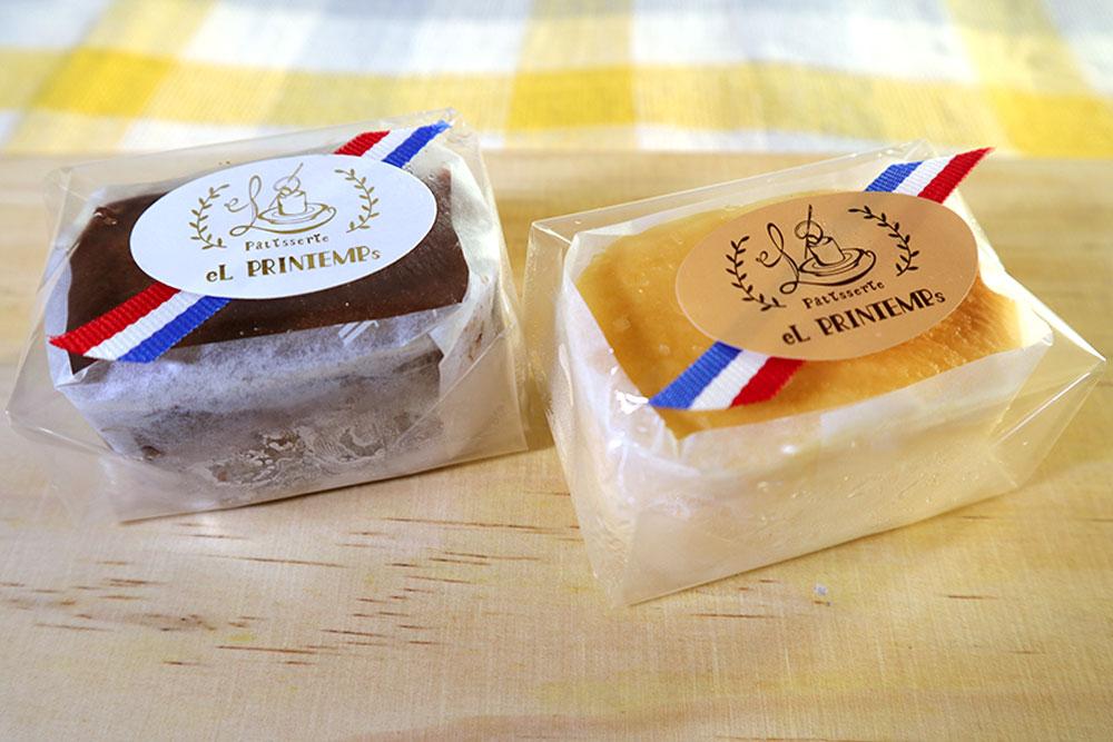 スフレケーキ(チョコと半熟チーズ)
