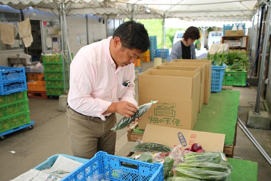 お届けする野菜が、べストな状態になるよう心掛け梱包をしています