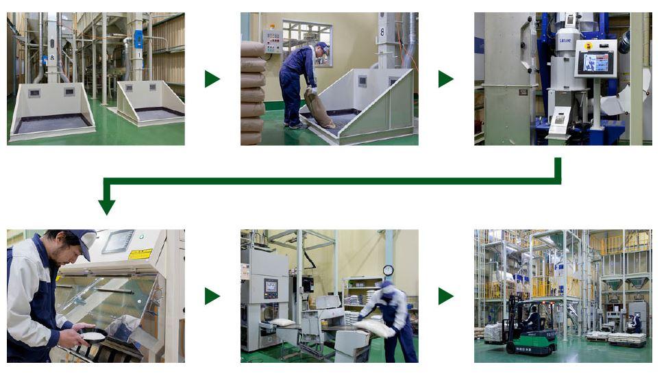 増田米穀は自社工場でお米を管理しています。品質が違います!!