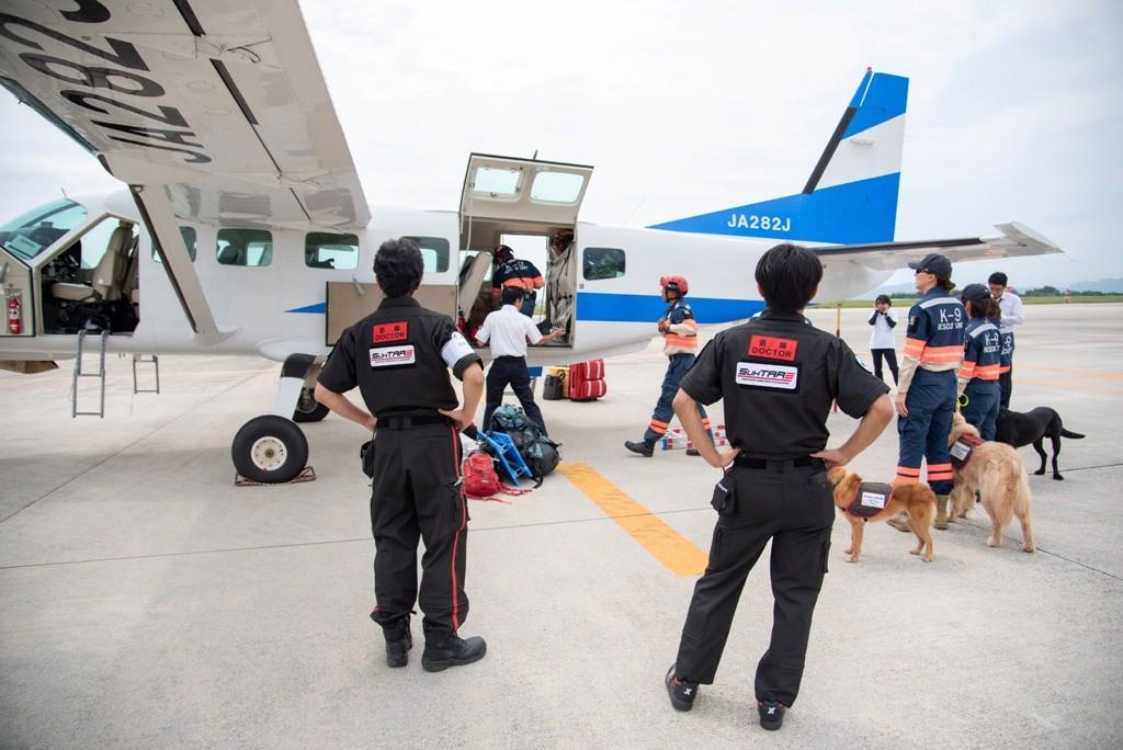 北海道胆振東部地震の被災地に向かう「空飛ぶ医師団」