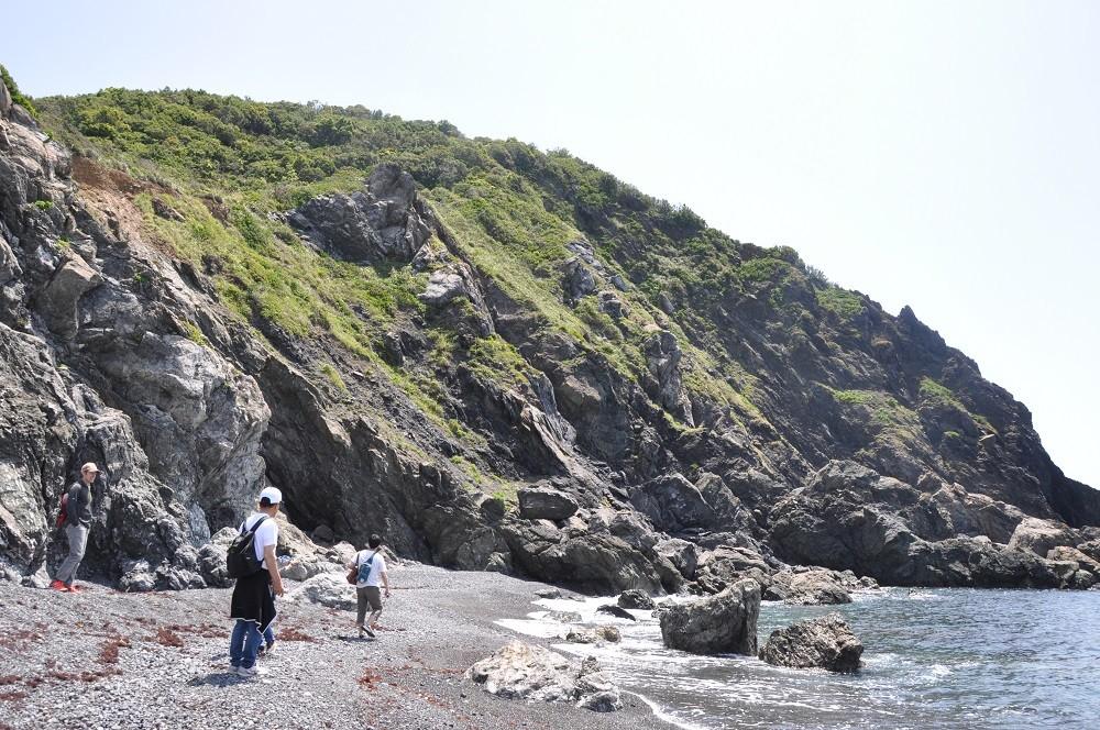 海辺の散策では、透明度の高い海をご覧ください
