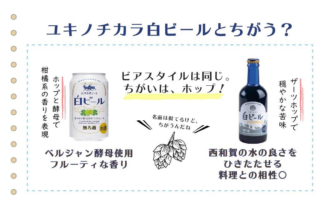 ユキノチカラ白ビールとの違い