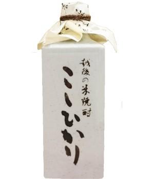 米焼酎こしひかり25度美濃焼角壺