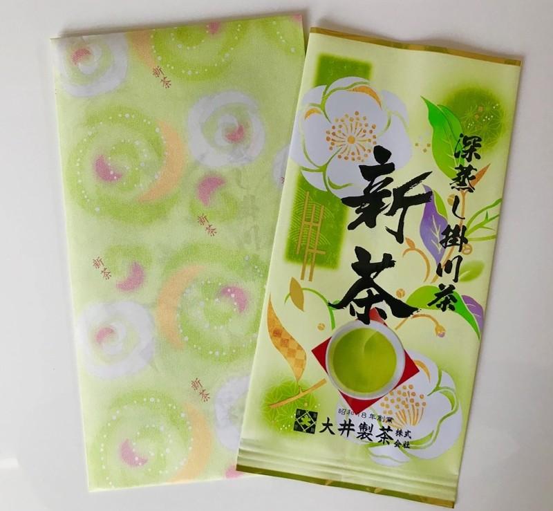 5月下旬から新茶になり7月上旬までは、このパッケージでお届けします。