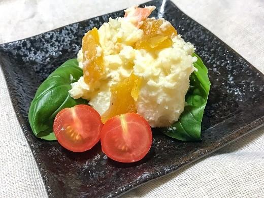 普段のポテトサラダに燻製干し芋プラスすると深みが増します!