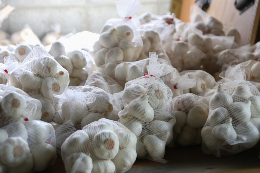 熊本県南関産のにんにくを厳選し使用しています。