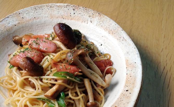 きのこと長ねぎのスパゲティレシピ