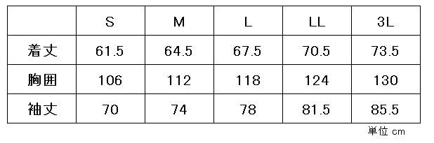 トップサイズ表