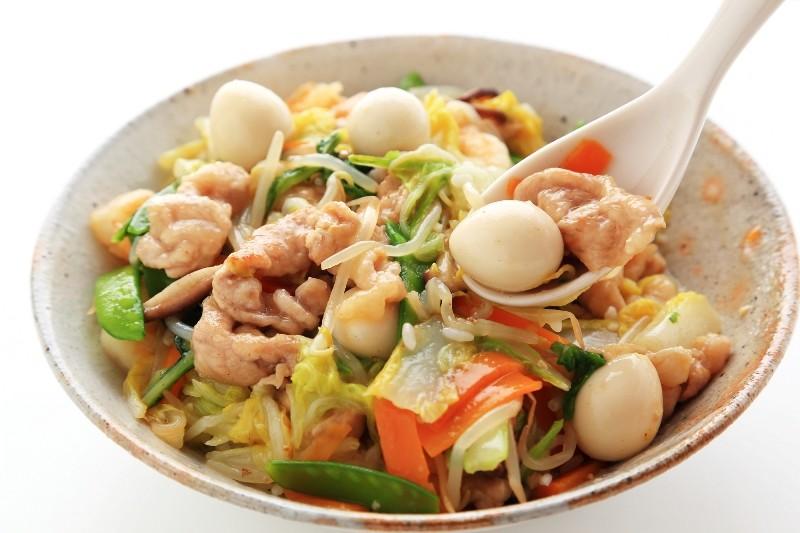 美味しい豚バラ切り落としで中華丼も贅沢丼に!