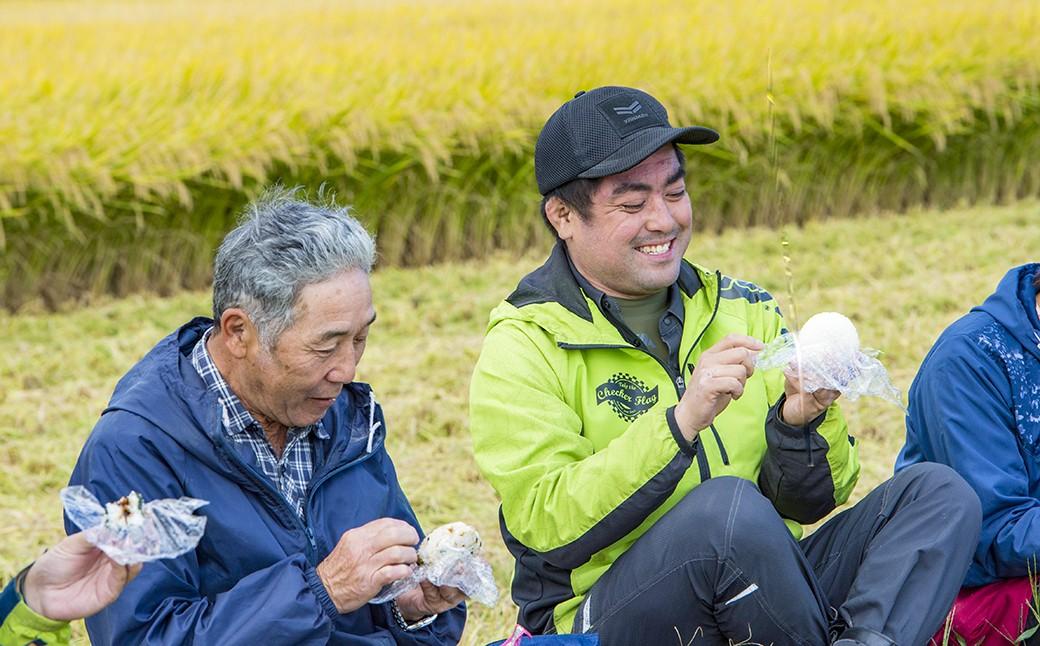 稲刈りの合間のお昼ごはん やっぱりお米はおいしい