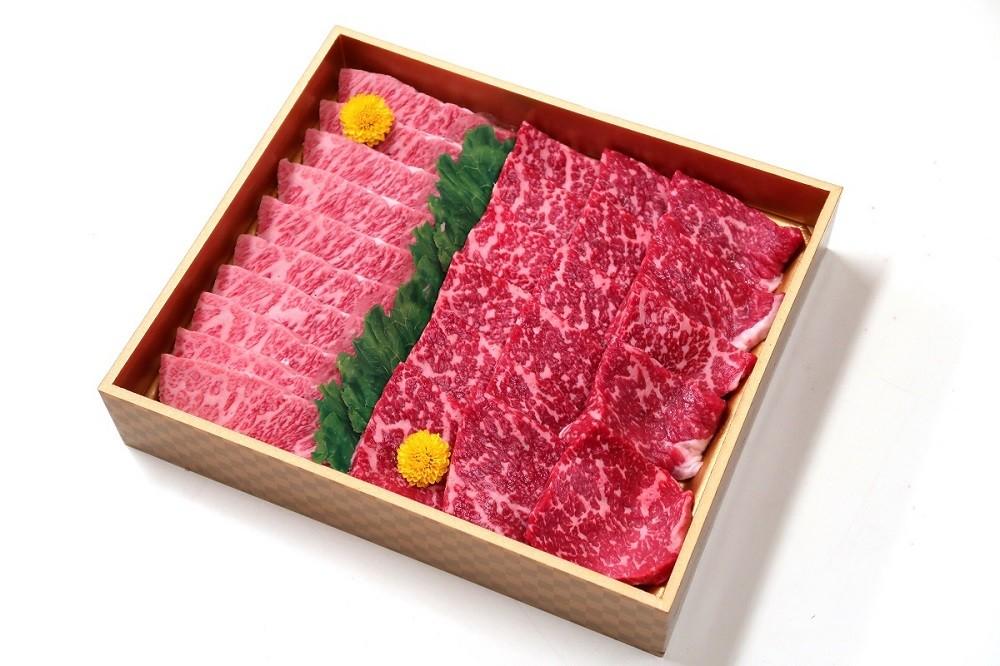 山梨県産富士山麓牛霜降り・赤身焼き肉セット