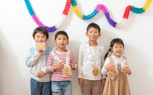 子どもたち大喜び!おせんべいとクッキーの「食べられるメダル」