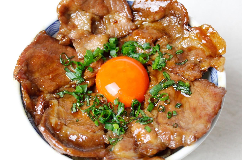 豚丼(生姜焼き用を使用)