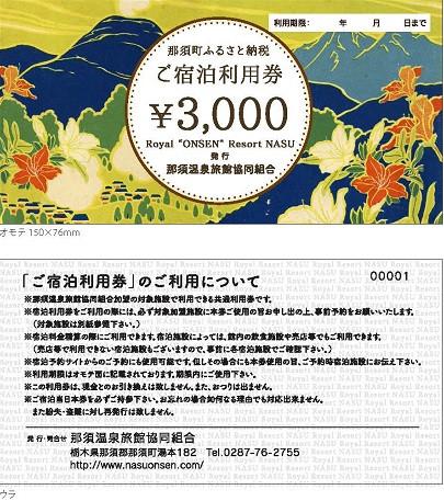 那須町ふるさと納税共通利用券(見本)