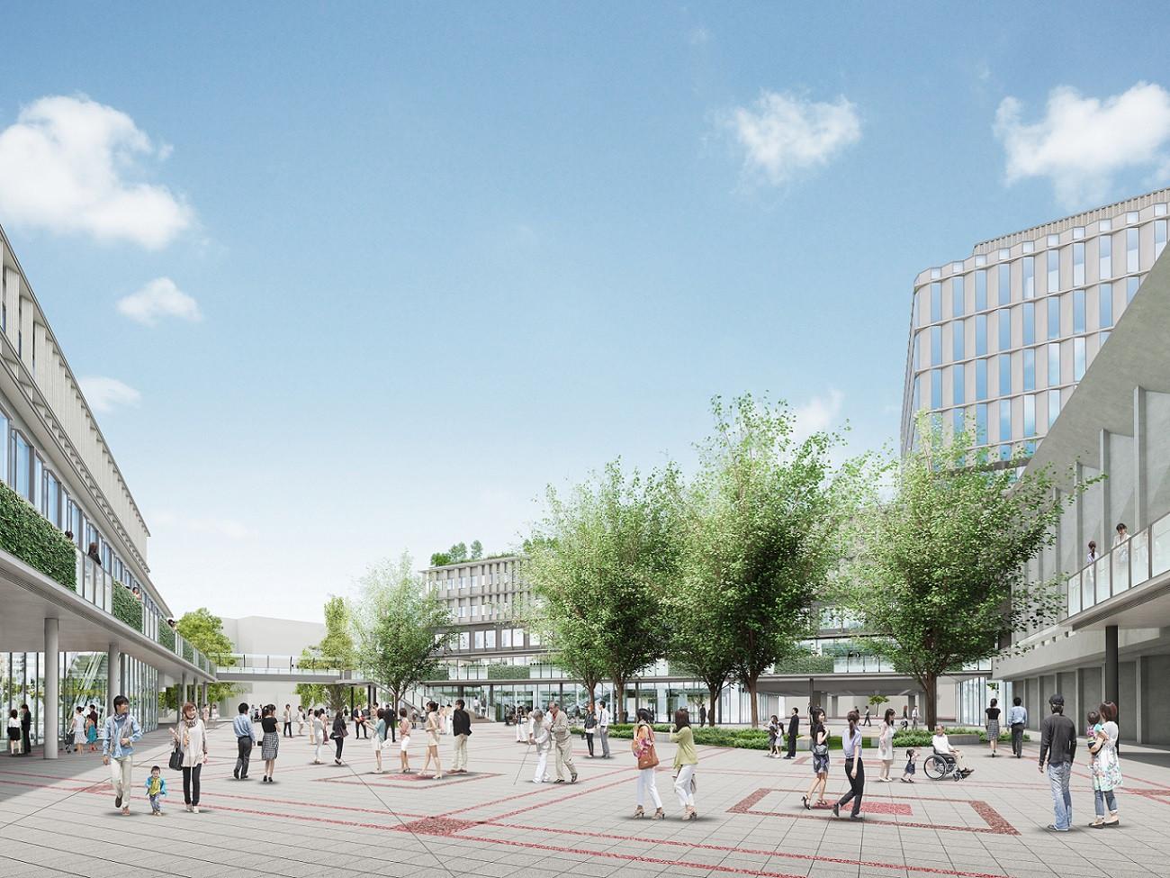 庁舎外観広場のイメージ