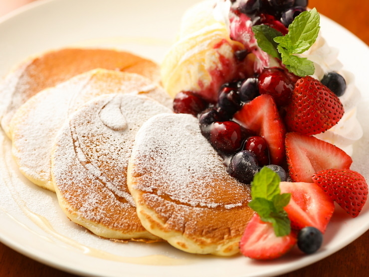 苺のバターみるくパンケーキ