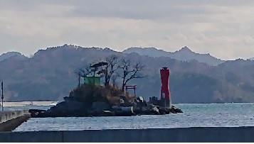 ひょっこりひょうたん島で有名な蓬莱島がある大槌町です