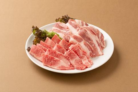 黒毛和牛カルビ200gと黒豚バラ肉300g