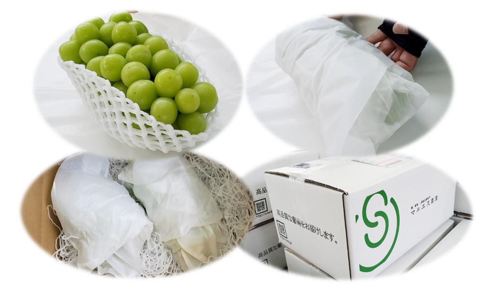 大切な葡萄です。梱包もきっちりさせていただいております。