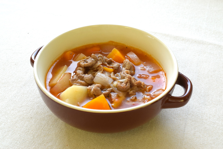 えごま鴨旨味たっぷり具沢山トマトスープ