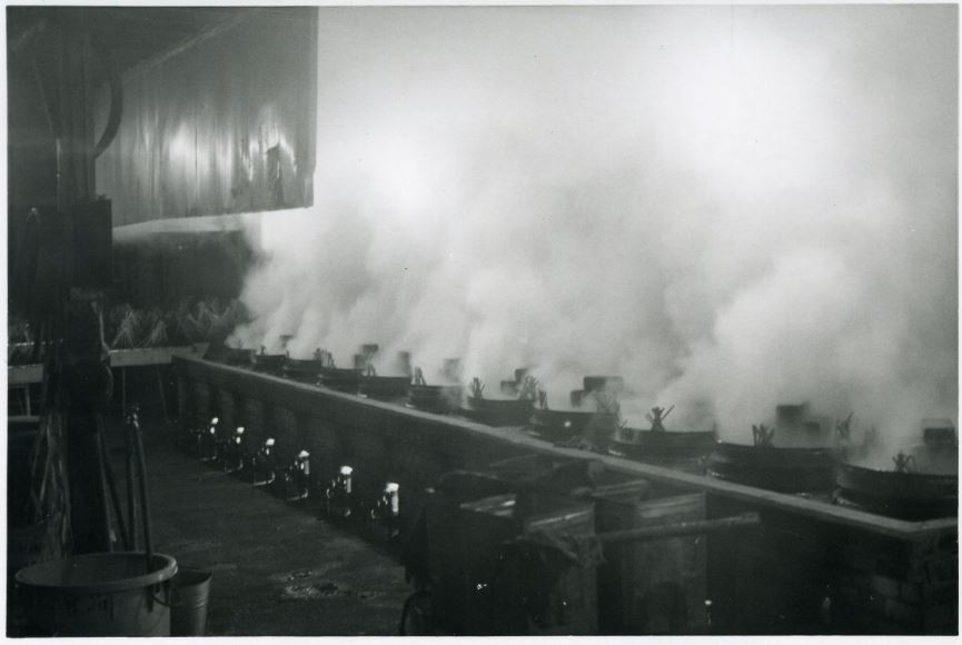 煮炊き釜の様子(1966年)