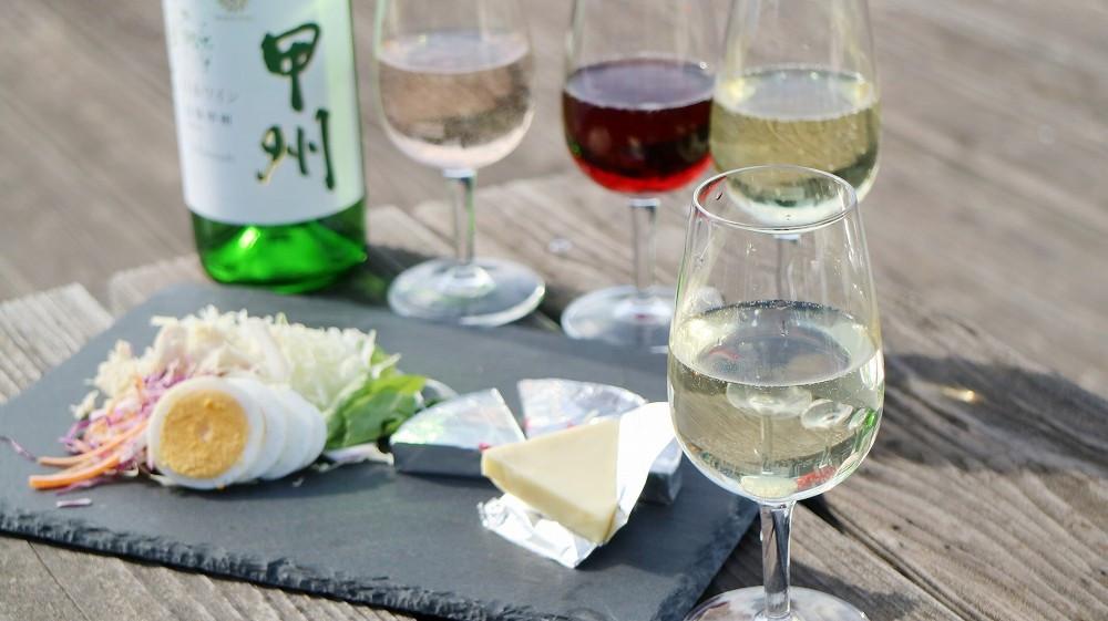 写真はイメージです。ベランダ飲みもワインで乾杯。